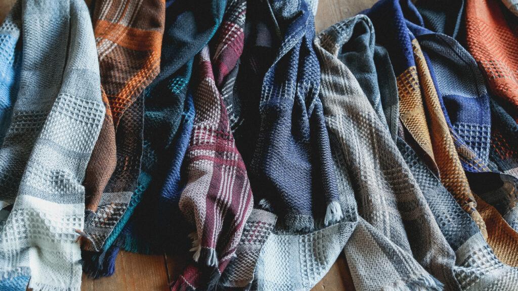 かわり織りマフラーカラーバリエーション画像