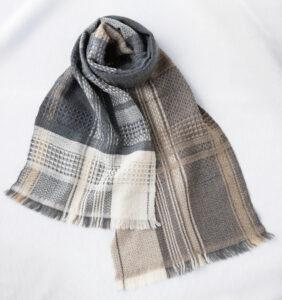 ウール かわり織りマフラー ベージュ