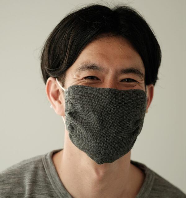 布マスク男性着用画像