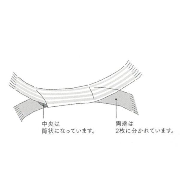 風通るリングストール イラスト説明