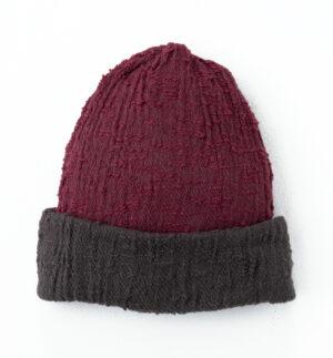 帽子ボルドー単体画像