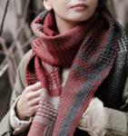 かわり織りマフラー着用画像