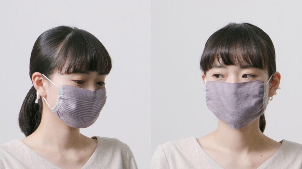 マスク裏表リバーシブル人物着用画像
