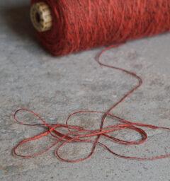 ブリックレッド杢糸画像