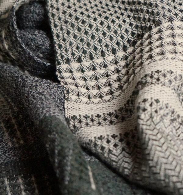 ウールかわり織りマフラー生地UP画像