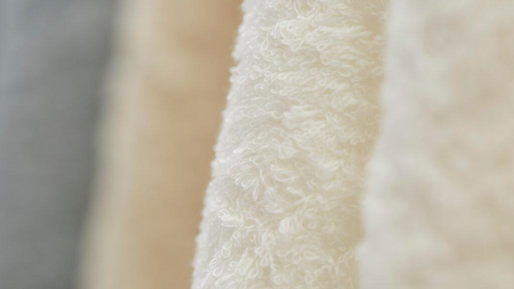 水布人舎 肌着の糸でつくったタオルクローズアップ画像