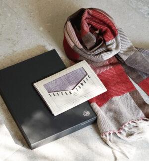 【 綾織り】マフラー&ハンカチ aセット画像