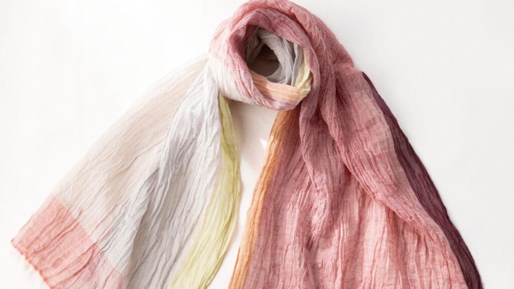 SHIBO リネンコットンバイカラーショール 商品単品画像