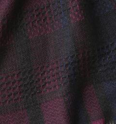 KAWARIウールマフラー ブラックワイン クローズアップ画像