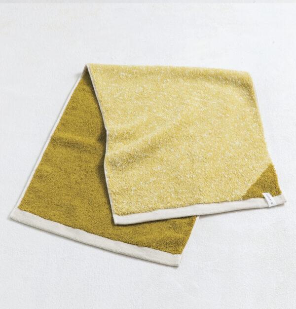CUON:E クオンイー サファイス リバーシ ラージフェイスタオル イエローグリーン 商品単体画像